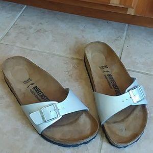 Birkenstock Madrid silver sandals